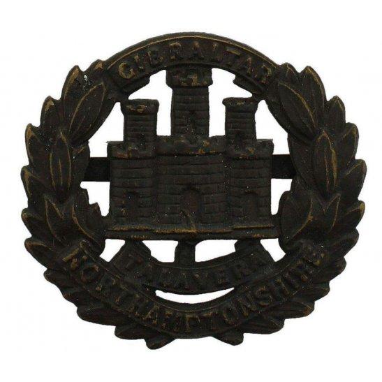 Northamptonshire Regiment WW1 Northamptonshire Regiment OFFICERS Bronze Cap Badge