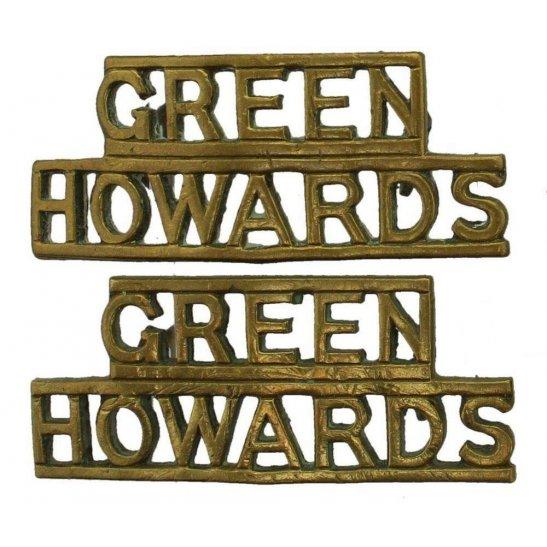 Yorkshire (Green Howards) WW2 Green Howards (Yorkshire) Regiment Shoulder Title PAIR