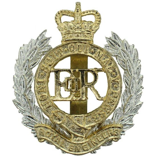 Royal Engineers Royal Engineers Staybrite Anodised Cap Badge - Staybright