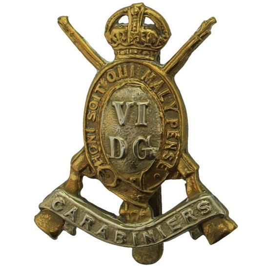 6th Dragoon Guards WW1 6th Dragoon Guards (Carabiniers) Regiment Cap Badge