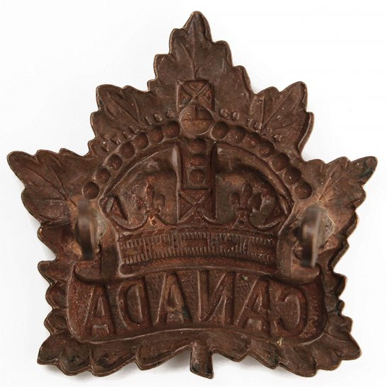 additional image for WW1 Canadian Army / Canada Corps CEF Cap Badge - PW ELLIS & CO 1914 Makers Mark