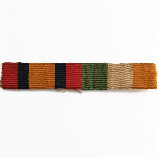 Boer War Queens & Kings South Africa KSA QSA Medal Ribbon Bar - SEW ON STYLE