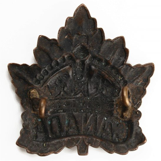 additional image for WW1 Canadian Army / Canada Corps CEF Cap Badge - RODEN BROS Makers Mark