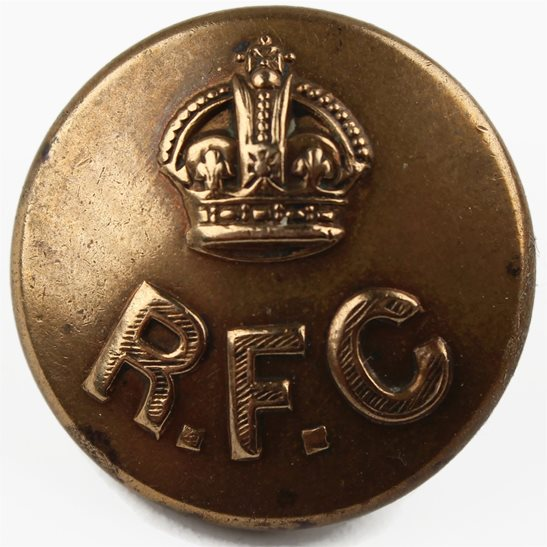 Royal Flying Corps RFC WW1 Royal Flying Corps RFC Tunic Button - C&J WELDON LONDON - 23mm