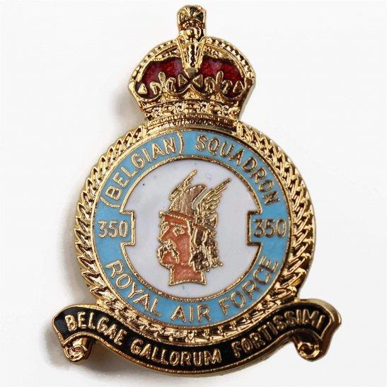 RAF Squadrons 350 Belgian Squadron Royal Air Force RAF Lapel Badge