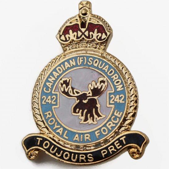 RAF Squadrons 242 Canadian Squadron Lapel Badge