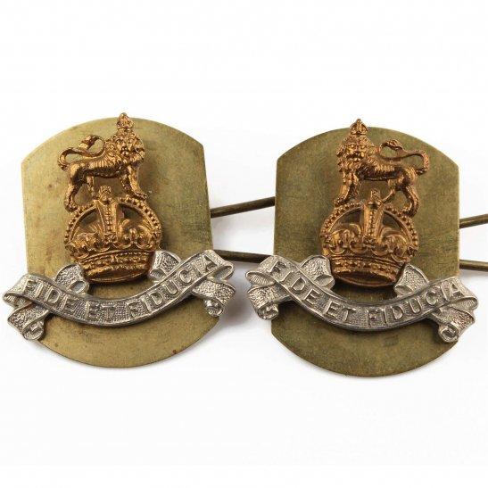 Royal Army Pay Corps RAPC Royal Army Pay Corps RAPC Collar Badge PAIR