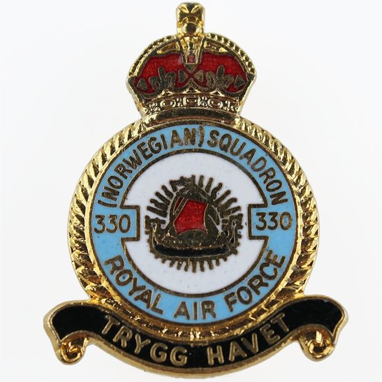 RAF Squadrons 330 Norwegian Squadron Royal Air Force RAF Lapel Badge