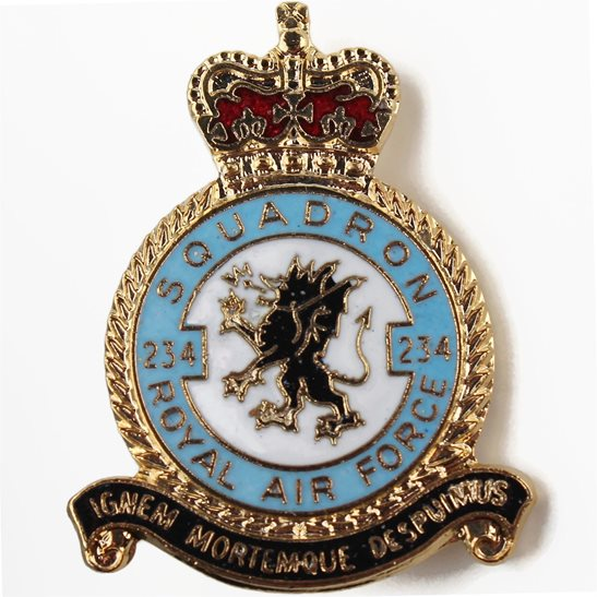 RAF Squadrons 234 Squadron Royal Air Force RAF Lapel Badge