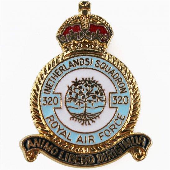 RAF Squadrons 320 Netherlands Squadron Royal Air Force RAF Lapel Badge