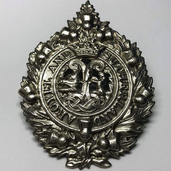 Argyll and Sutherland Highlanders WW1 Argyll and Sutherland Highlanders Regiment Cap Badge