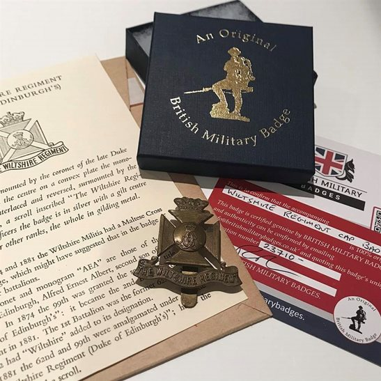 Wiltshire Regiment Wiltshire Regiment Cap Badge in Presentation & Gift Box