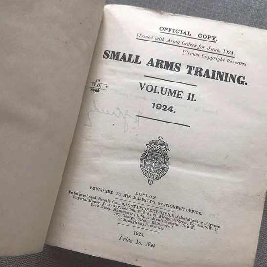 additional image for British Army Small Arms Weapon Training Manual Book 1924 Volume 2