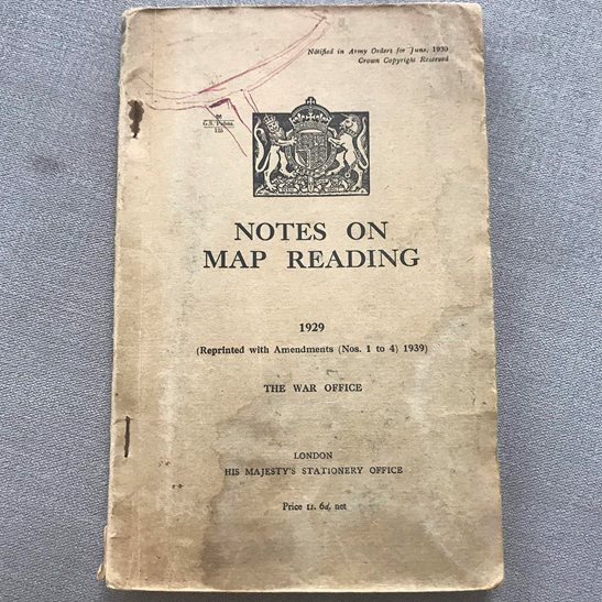 British Army Notes on Map Reading 1929 Training Manual Book 1940 Edition