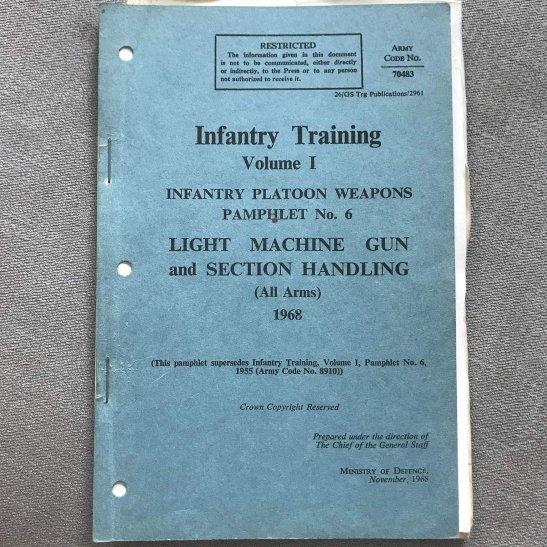 British Army Light Machine Gun Section Handling Infantry Training Manual Book 1968