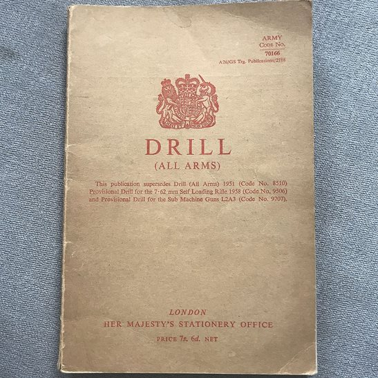 British Army 1951 Weapons All Arms Drill Infantry Training Manual Book 1965 Version