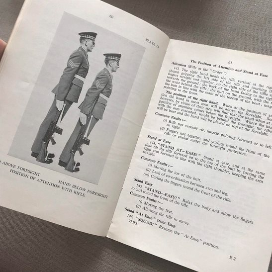 additional image for British Army 1951 Weapons All Arms Drill Infantry Training Manual Book 1965 Version