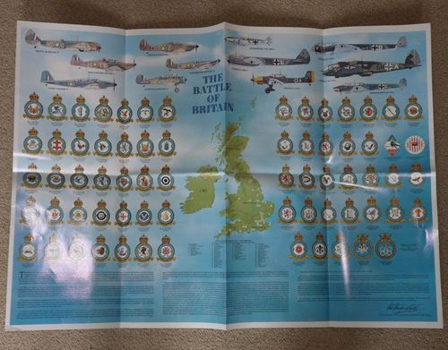 Details about Battle of Britain Royal Air Force RAF Squadron Badges Planes  Airfields A1 Poster