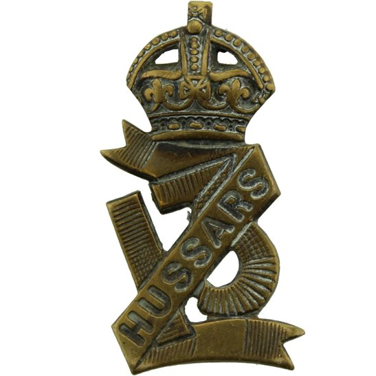 13th Hussars WW1 13th Hussars Regiment Cap Badge