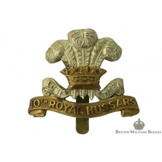 10th Royal Hussars Regiment Cap Badge - JR GAUNT LONDON Makers Mark