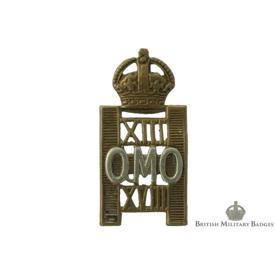 13th / 18th Hussars (Queen Mary's Own) Regiment Cap Badge