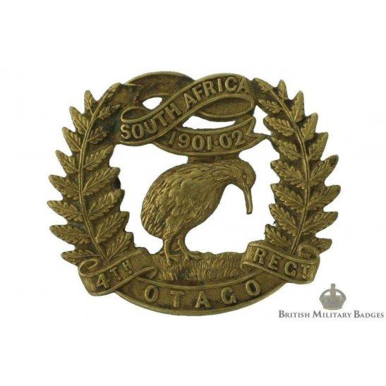 4th Otago New Zealand Army Regiment Cap Badge - JR GAUNT LONDON