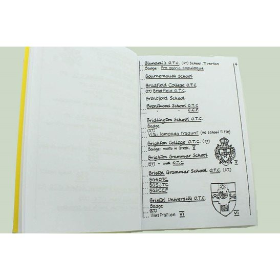 additional image for Officer's Training Corps OTC Cap Badges and Shoulder Titles Reference Booklet