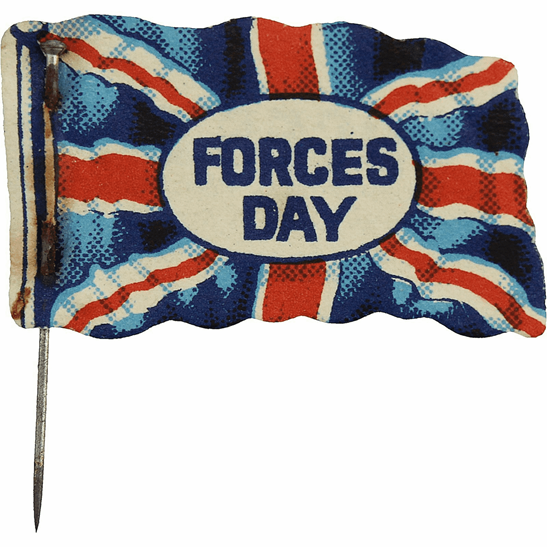 Lord Roberts Fund British Flag Armed Forces Day Wounded Veterans Fundraising Pin Badge
