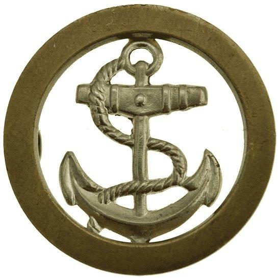 Royal Navy British Sailors Royal Navy Seamans Naval Anchor Cap Badge