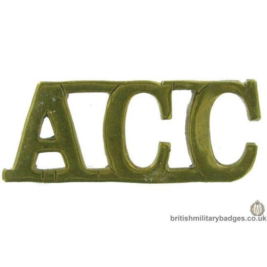 Army Catering Corps ACC Shoulder Title