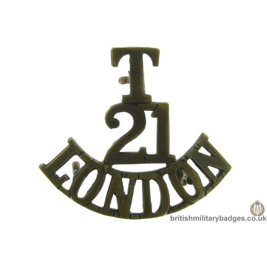 21st Territorial Battalion London Regiment Shoulder Title