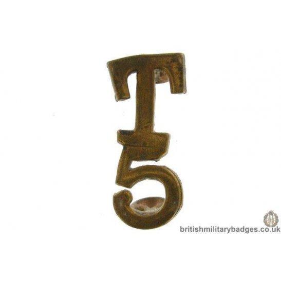 5th Territorial Battalion / Company T5 Shoulder Title - 28mm