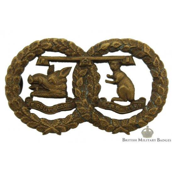 Argyll and Sutherland Highlanders Regiment OFFICERS Bronze Collar Badge