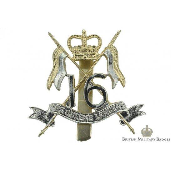 16th The Queen's Lancers Regiment Staybrite Cap Badge
