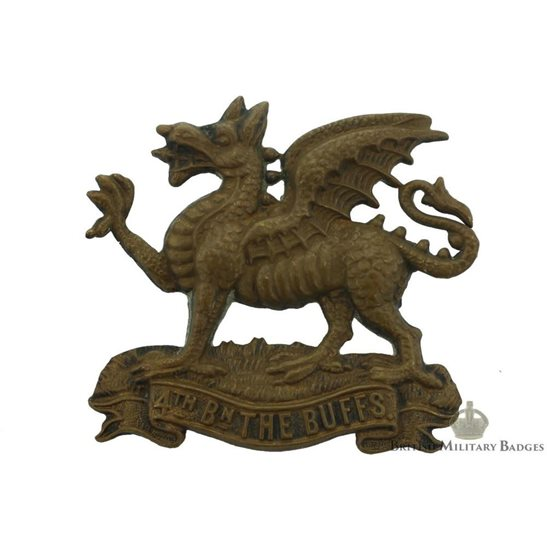 4th Battalion, Royal East Kent (The Buffs) Regiment Cap Badge