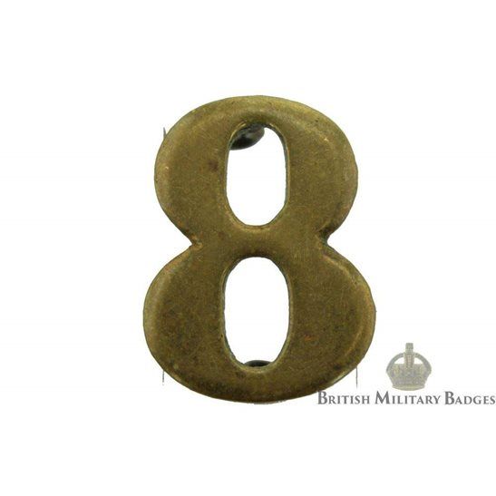 8th Territorial Battalion 8 Insignia Number Shoulder Title
