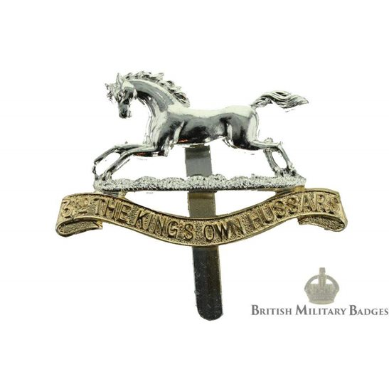 3rd The Kings Own Hussars Regiment (King's) Staybrite Cap Badge