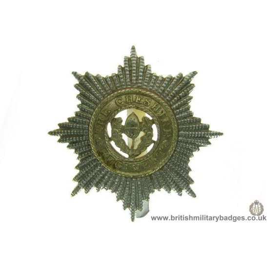 F1A/98 - The Cheshire Regiment Staybrite Cap Badge