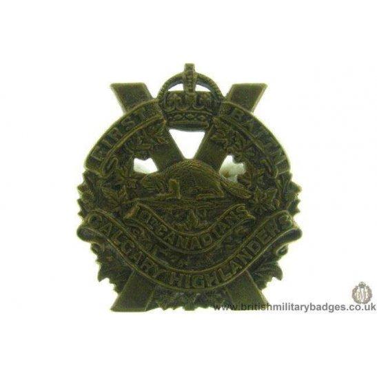 B1B/42  10th Battalion Canadian Calgary Highlanders Collar Badge