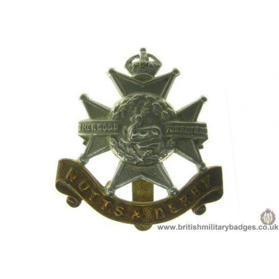 "A1A/39 - Sherwood Forresters ""Notts & Derby"" Regiment Cap Badge"