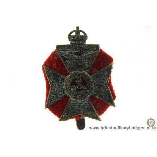 A1B/27 - Kings Royal Rifle Corps KRRC Regiment Cap Badge