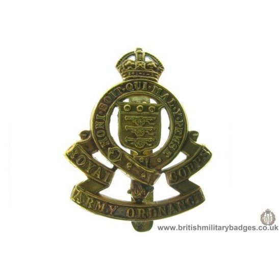 A1B/42 - Royal Army Ordnance Corps RAOC Cap Badge