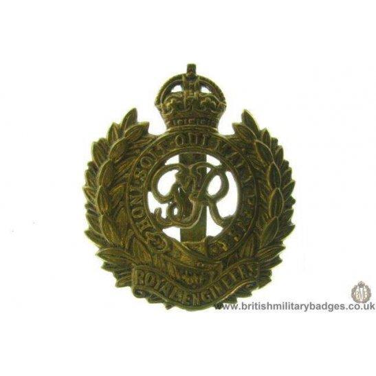 "A1B/53 - Royal Engineers Corps ""George VI"" Cap Badge"