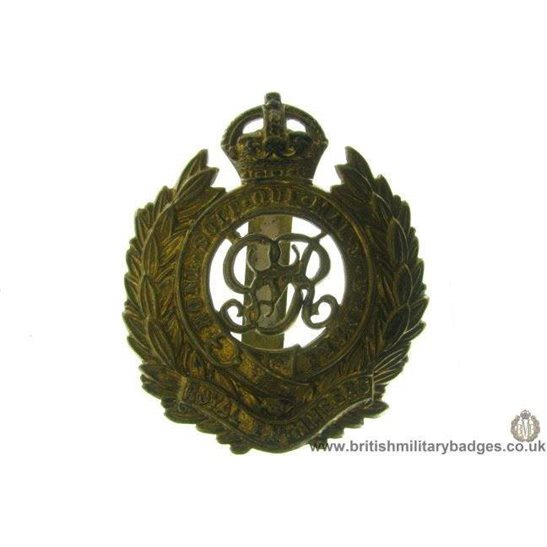 "A1B/58 - Royal Engineers Corps ""George V"" Cap Badge"