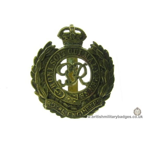"A1B/60 - Royal Engineers Corps ""George VI"" Cap Badge"