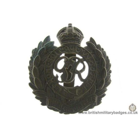 "A1B/68 - Royal Engineers Corps ""George VI"" Cap Badge"