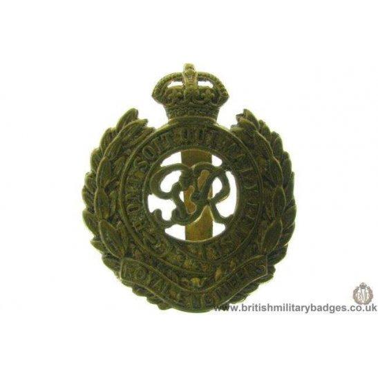 "A1B/75 - Royal Engineers Corps ""George VI"" Cap Badge"