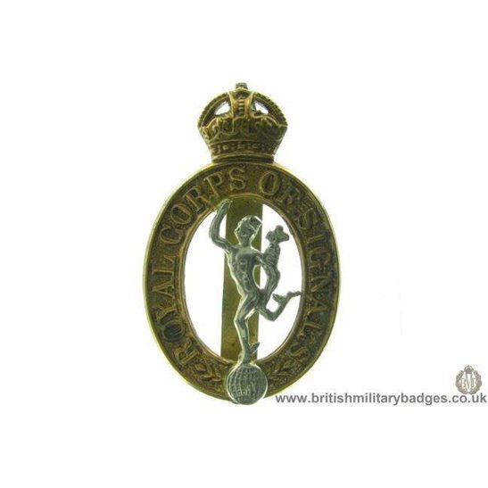 A1B/82 - Royal Corps of Signals RCOS Cap Badge