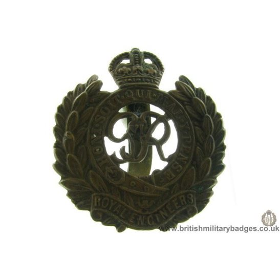 "A1B/91 - Royal Engineers Corps ""George VI"" Cap Badge"
