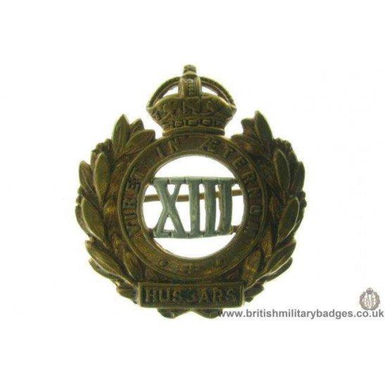A1D/09 - 13th Hussars Regiment Cap Badge